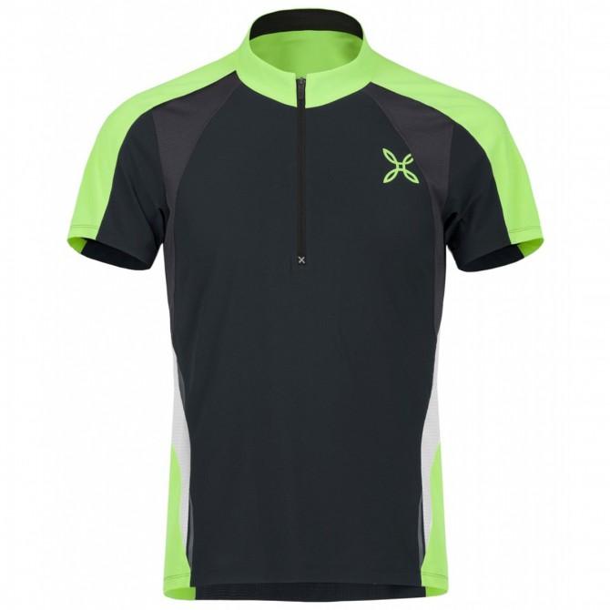 T-shirt running Montura Racy ardesia-verde fluo