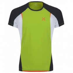 Running t-shirt Montura Run Fast Man green-orange