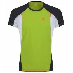 T-shirt running Montura Run Fast Hombre verde-naranja