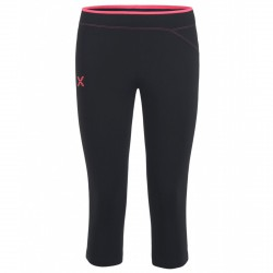 Pantalones 3/4 running Montura Run Easy Mujer negro-rosa