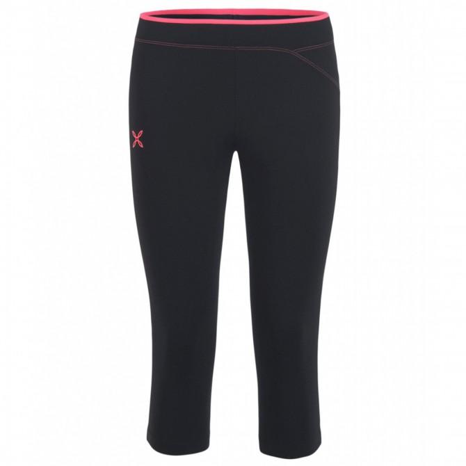 Pantalon 3/4 running Montura Easy Femme noir-rose