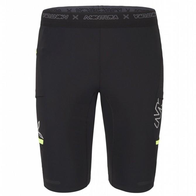 Pantaloncino running Montura Ciclista 2 nero-giallo fluo