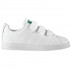 Sneakers Adidas Advantage Clean Garçon blanc-vert