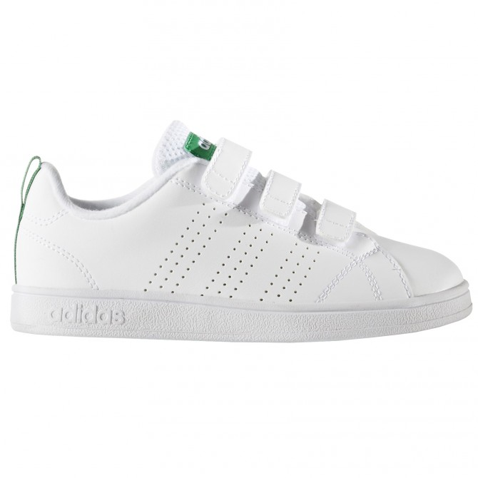 Sneakers Adidas Advantage Clean Bambino bianco-verde