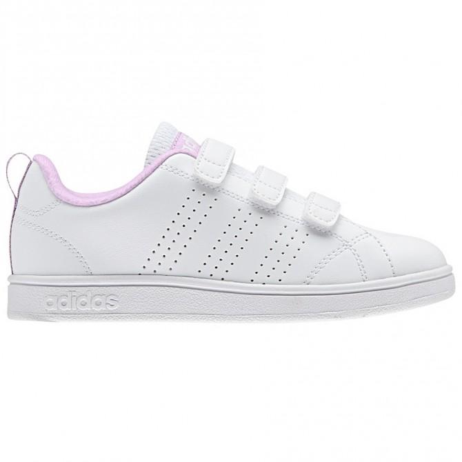 Sneakers Adidas Advantage Clean Bambina bianco-rosa ADIDAS Scarpe moda
