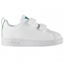 Sneakers Adidas Advantage Clean Baby blanc-vert