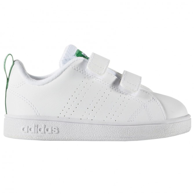 Sneakers Adidas Advantage Clean Baby blanc-vert