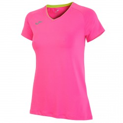 Running t-shirt Joma Woman fluro pink