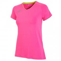 T-shirt running Joma Mujer rosa fluo