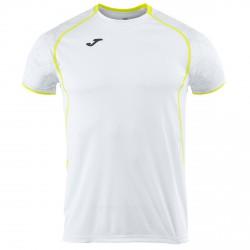 T-shirt running Joma Olimpia Uomo bianco
