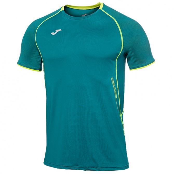 T-shirt running Joma Olimpia Flash Uomo petrolio
