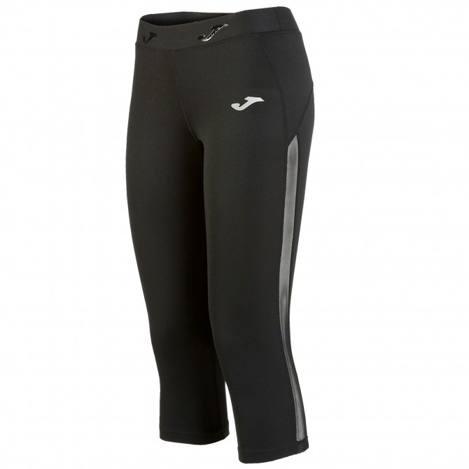 Running 3/4 pants Joma Free Woman black