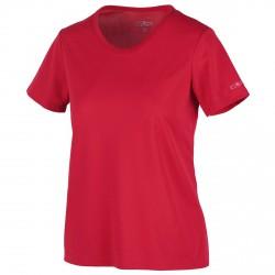 T-shirt trekking Cmp Mujer rojo