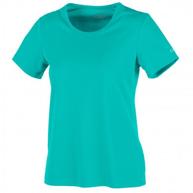 T-shirt trekking Cmp Donna verde acqua