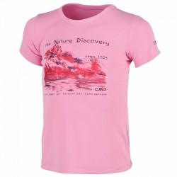 T-shirt trekking Cmp rosa-blu