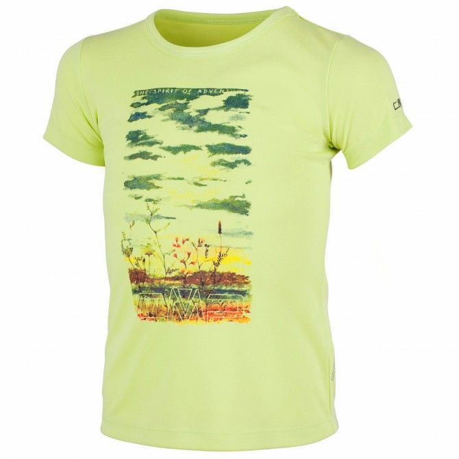 T-shirt trekking Cmp Girl lime