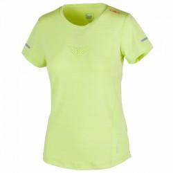 T-shirt trail running Cmp Femme lime