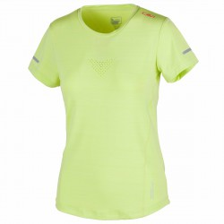 T-shirt trail running Cmp Mujer lime