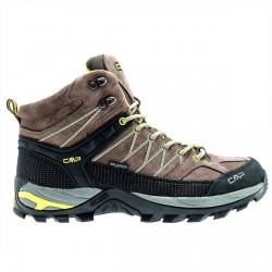 Chaussure trekking Cmp Rigel Mid Homme brun-lime