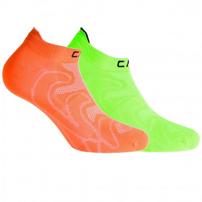Calze Cmp Ultralight Junior arancione-verde