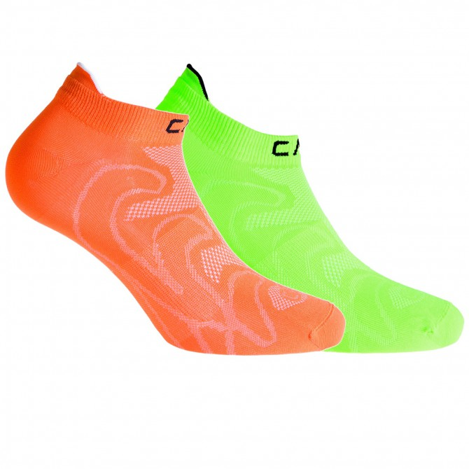Chaussettes Cmp Ultralight Junior orange-vert