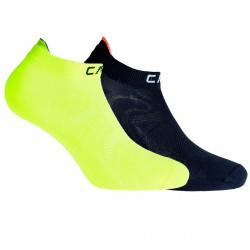 Chaussettes Cmp Ultralight Junior jaune-noir