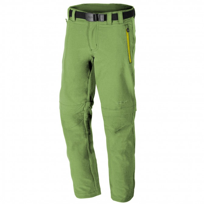 Pantalone trekking Cmp Zip Off Junior verde CMP Abbigliamento outdoor junior