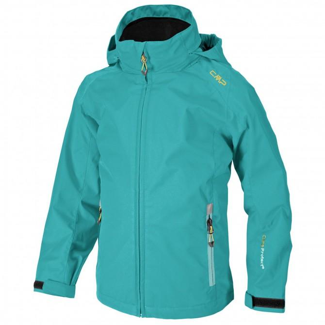 Giacca antipioggia Cmp Girl verde acqua CMP Abbigliamento outdoor junior