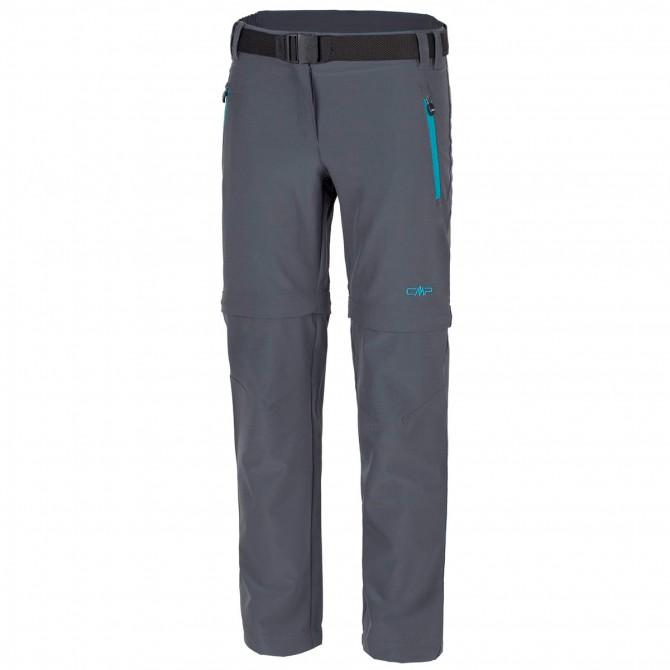 Pantalone trekking Cmp Zip Off Girl grigio CMP Abbigliamento outdoor junior