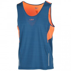 Trail running tank Cmp Man blue