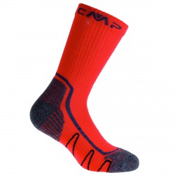 Chaussettes trekking Cmp Poly Medium Junior rouge