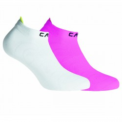 Calze fitness Cmp fucsia fluo-bianco