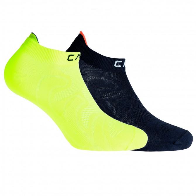 Calze fitness Cmp giallo fluo-nero