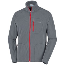 Polaire Columbia Fast Trek II Homme gris-rouge
