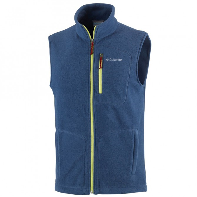 Fleece vest Columbia Fast Trek II Man blue-lime