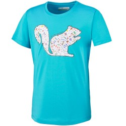 Trekking t-shirt Columbia Wonderful Wander Girl teal
