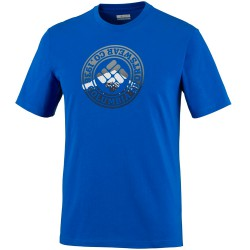 T-shirt trekking Columbia Tried and True Homme royal