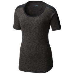 T-shirt trekking Columbia Outerspaced Femme gris sombre