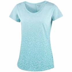 T-shirt trekking Columbia Ocean Fade Donna verde acqua