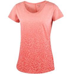 T-shirt trekking Columbia Ocean Fade Femme corail