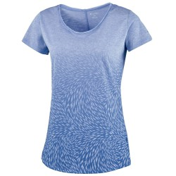 T-shirt trekking Columbia Ocean Fade Mujer lila