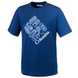 T-shirt trekking Columbia Hike S'More Garçon royal