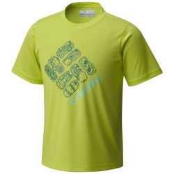 T-shirt trekking Columbia Hike S'More Bambino lime