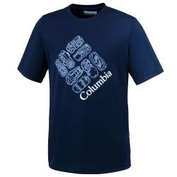 T-shirt trekking Columbia Hike S'More Garçon bleu