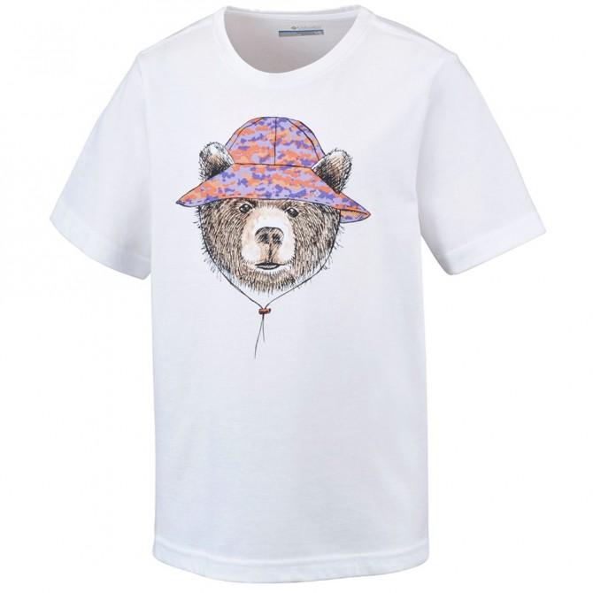 T-shirt trekking Columbia Hike The Hills Bambino bianco