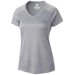 T-shirt trekking Columbia Zero Rules Donna grigio