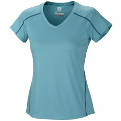 T-shirt trekking Columbia Zero Rules Femme vert eau