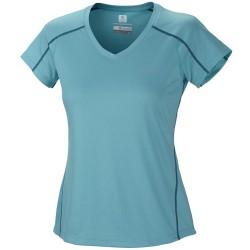 T-shirt trekking Columbia Zero Rules Mujer verde agua