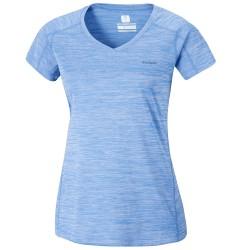 T-shirt trekking Columbia Zero Rules Femme bleu clair