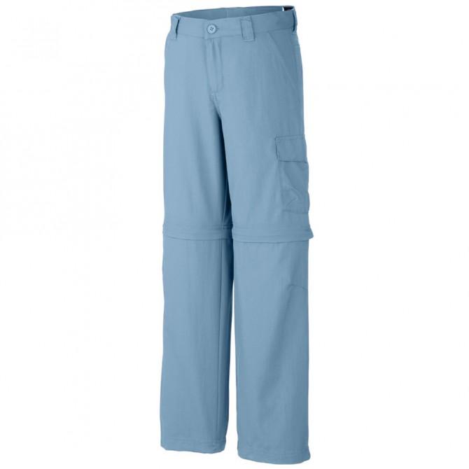 Pantalone trekking Columbia Silver Ridge III Bambino azzurro